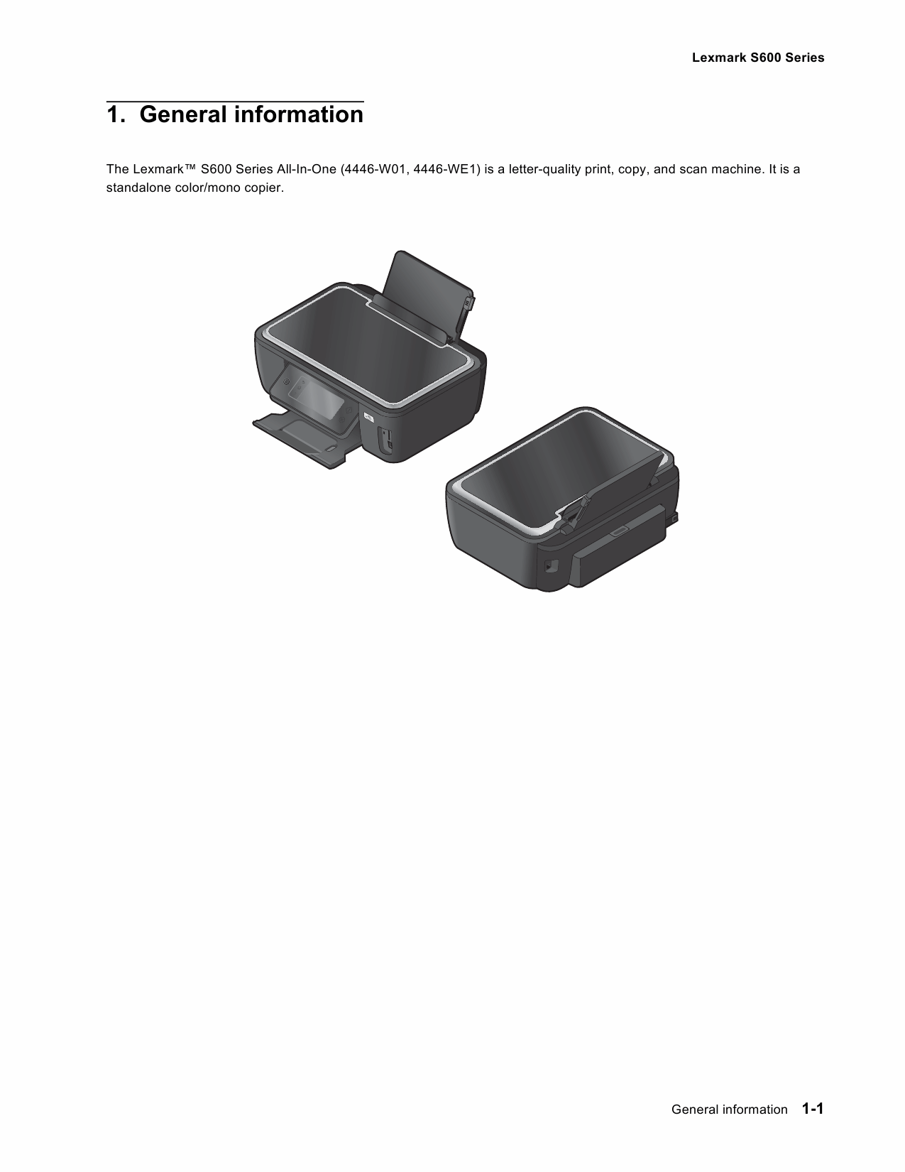 Lexmark All-In-One S600 4446 Service Manual-2
